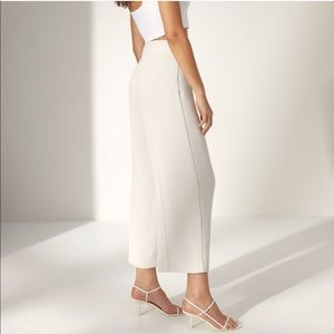 Aritzia Wilfred High Waisted Crop WideLeg Trousers